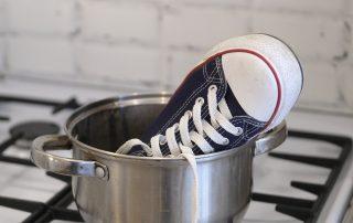 shoe in pot