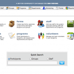 Screen grab from Open Source Program Evaluation Software for Nonprofit data management