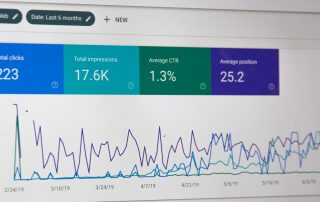 google analytics on a computer screen