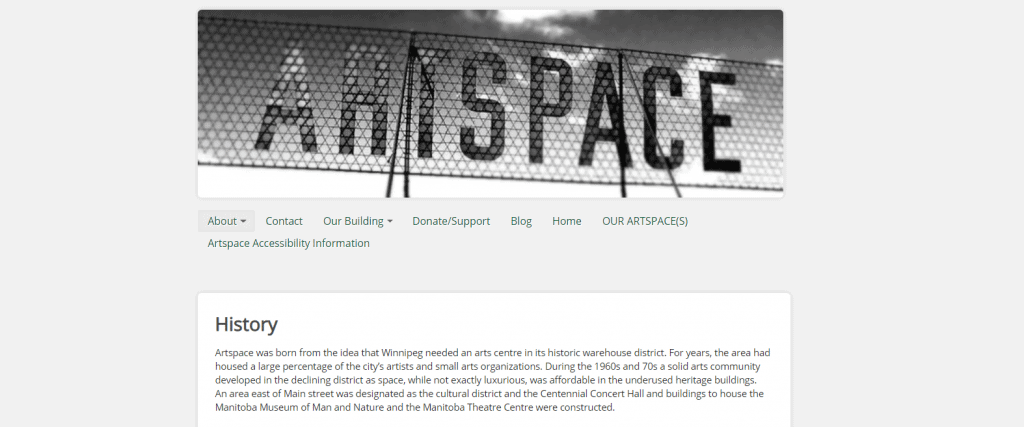 screen grab of Artspace homepage